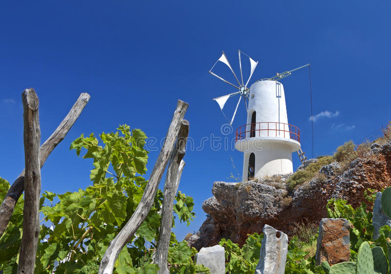 Download Traditional Winmill In Greece Stock Photo - Image: 26063180
