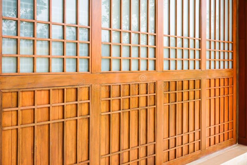 Traditional wood of japan style,texture of Japanese wood Shoji stock image