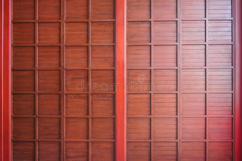 Traditional wood of japan style,texture of Japanese wood Shoji,Interior decoration Japanese style wooden house royalty free stock photos