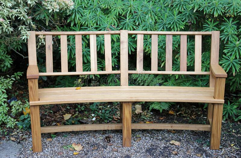 Wooden bench seat royalty free stock images