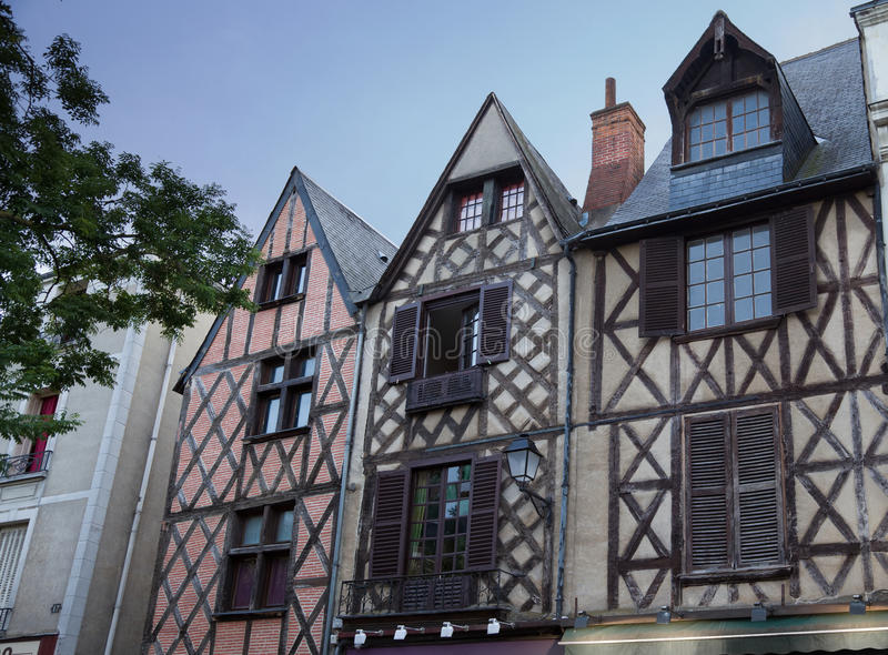 Download Traditional Wooden Houses In Tours Town Stock Image - Image: 13290649