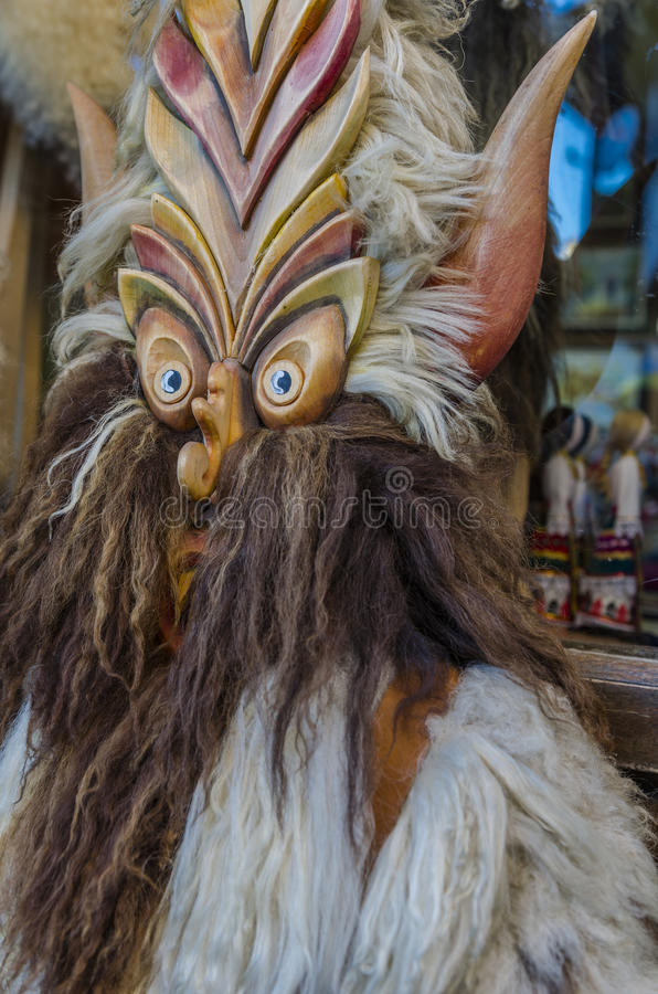 Traditional wooden mask royalty free stock images