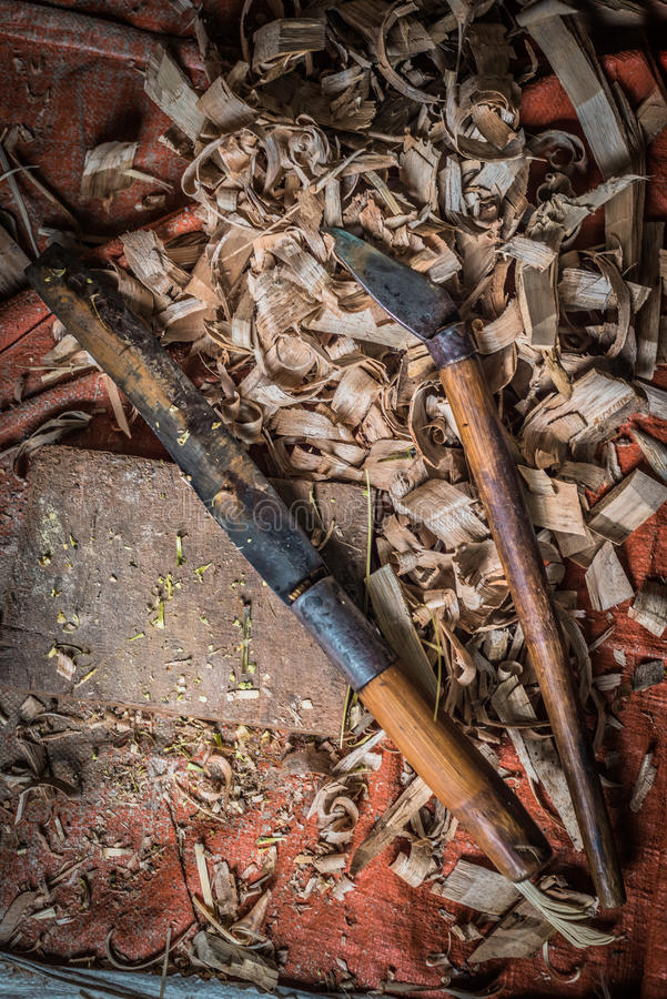 Traditional woodworker tools stock images