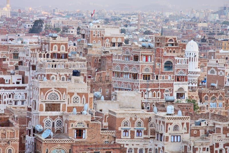 Traditional Yemeni house stock image