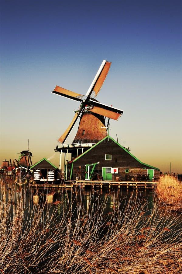 Traditional Zaanse Schans Village, Holland stock image