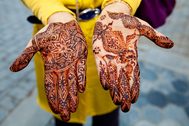Download Traditionally Henna Painted Hands Stock Image - Image: 26403275