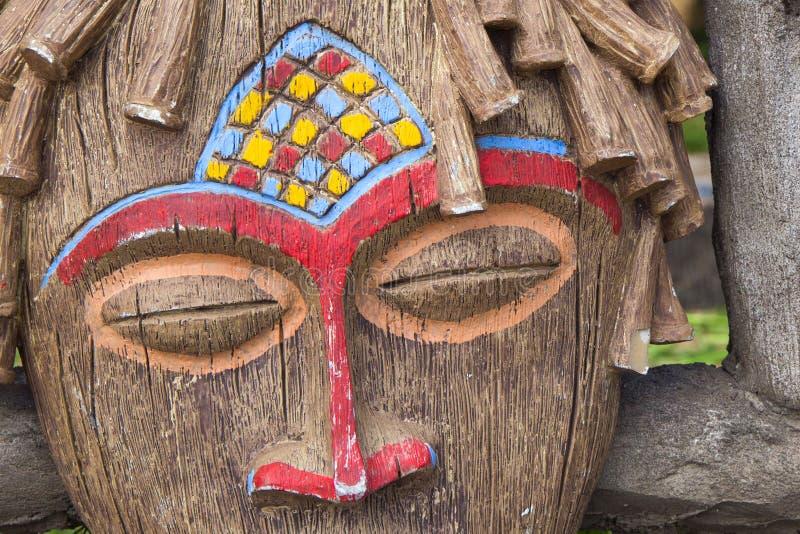 Traditioneel Afrikaans ritueel masker royalty-vrije stock foto's