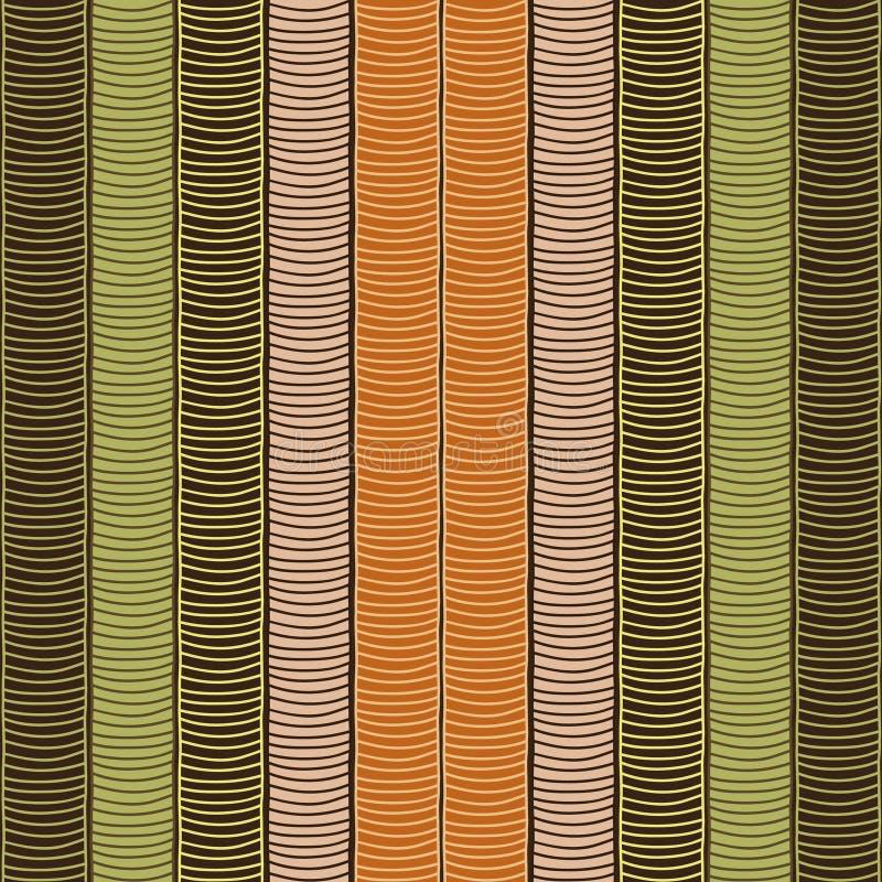 Traditioneel Afrikaans Sierpatroon Gestileerde Naadloze textuur met golven royalty-vrije illustratie