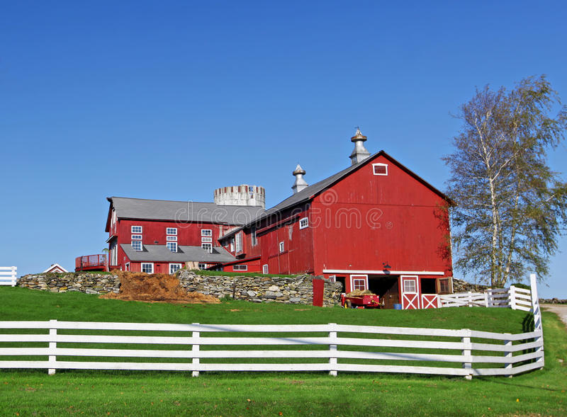 Traditioneel Amerikaans Landbouwbedrijf royalty-vrije stock foto's