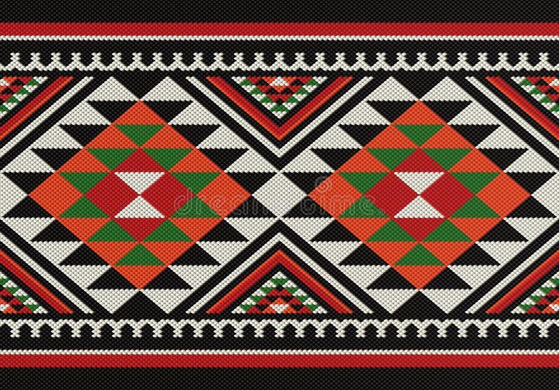 Traditioneel Arabisch de Hand Wevend Patroon van Diamanten Volkssadu stock illustratie