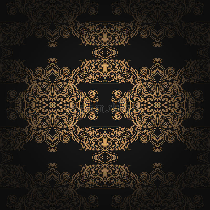 Traditioneel Arabisch gouden ornament naadloos met gradiënt Bloemen SierPatroon Koninklijk Ontwerp Het kan voor prestaties van he stock illustratie