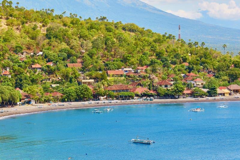 Traditioneel Balinees dorp in Oost-Bali royalty-vrije stock foto