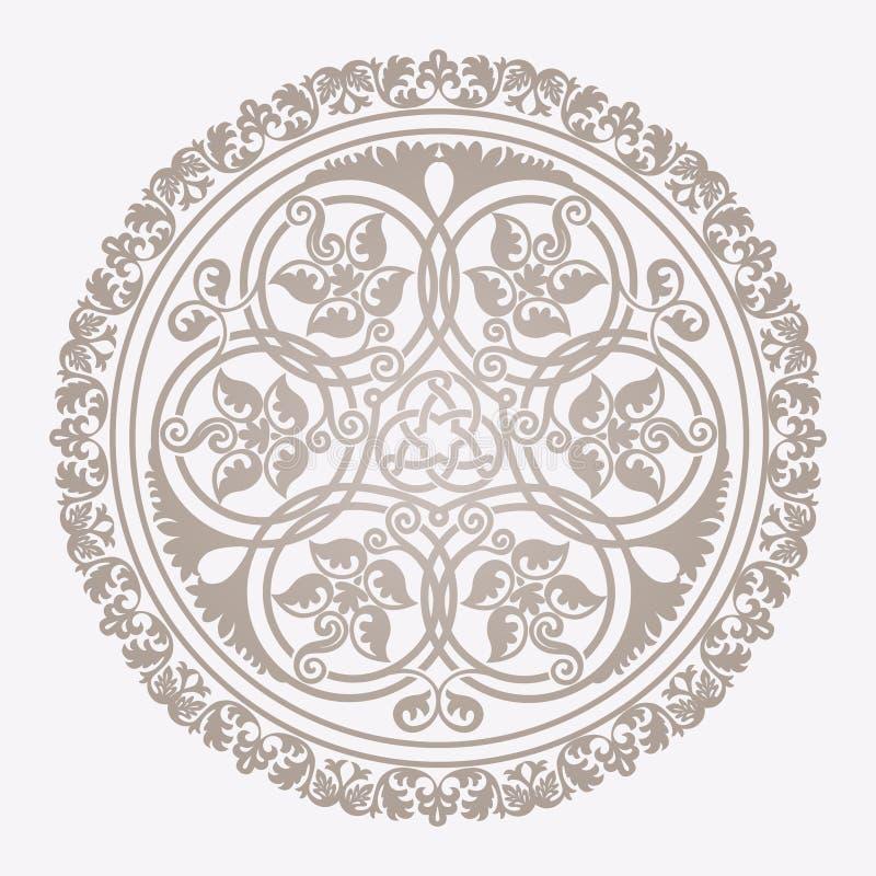 Traditioneel bloemen Islamitisch ornament vector illustratie