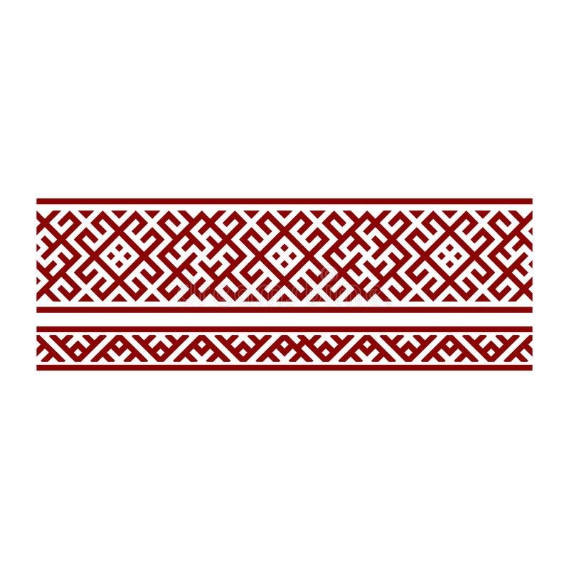 Traditioneel borduurwerk Vectorillustratie van etnische naadloze sier geometrische patronen voor uw ontwerp vector illustratie