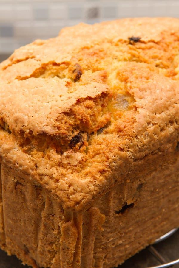 Traditioneel traditioneel Brits het fruitbrood van het fruitbrood A royalty-vrije stock foto
