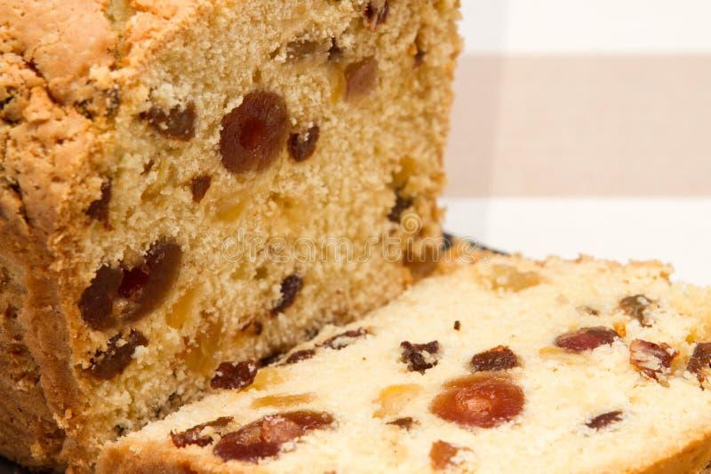 Traditioneel traditioneel Brits het fruitbrood van het fruitbrood A royalty-vrije stock foto's