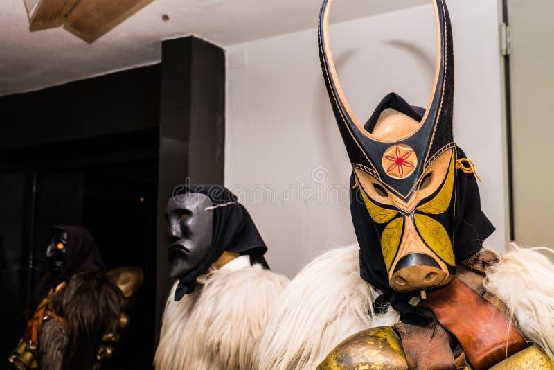 Traditioneel Carnaval in Mamoiada, Nuoro, Sardinige, Italië royalty-vrije stock afbeeldingen