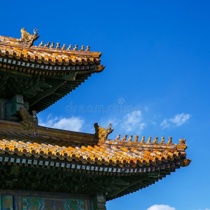 Traditioneel Chinees architecturaal dak royalty-vrije stock afbeelding