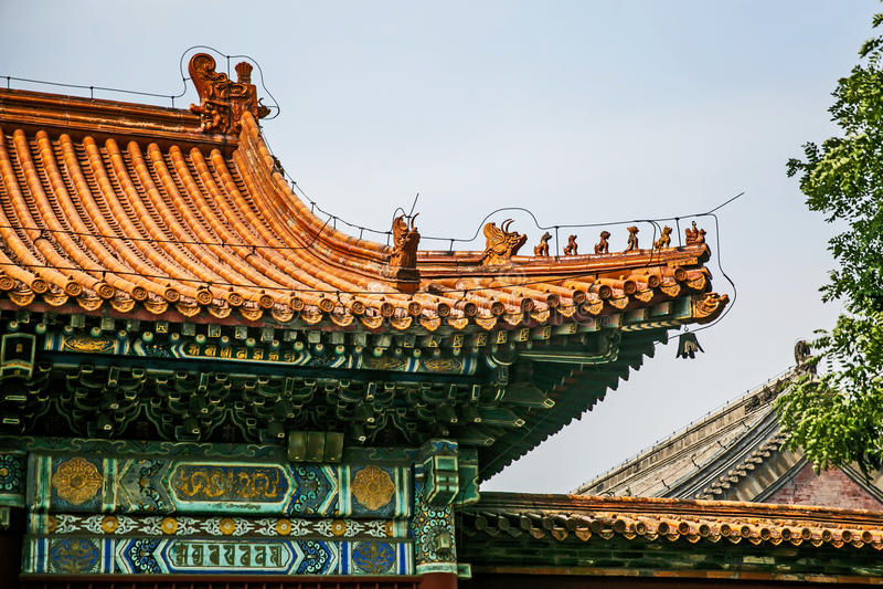 Traditioneel Chinees architecturaal dak royalty-vrije stock foto's