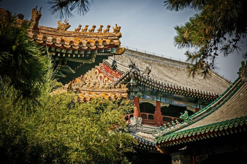 Traditioneel Chinees architecturaal dak royalty-vrije stock afbeeldingen