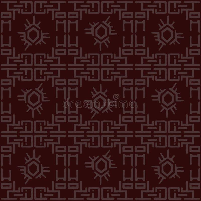 Traditioneel Chinees patroon, naadloze Aziatische textuur Abstracte geometrische decoratieve achtergrond stock illustratie