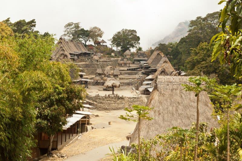 Traditioneel dorp Bena op Flores-Eiland Indonesië royalty-vrije stock foto's