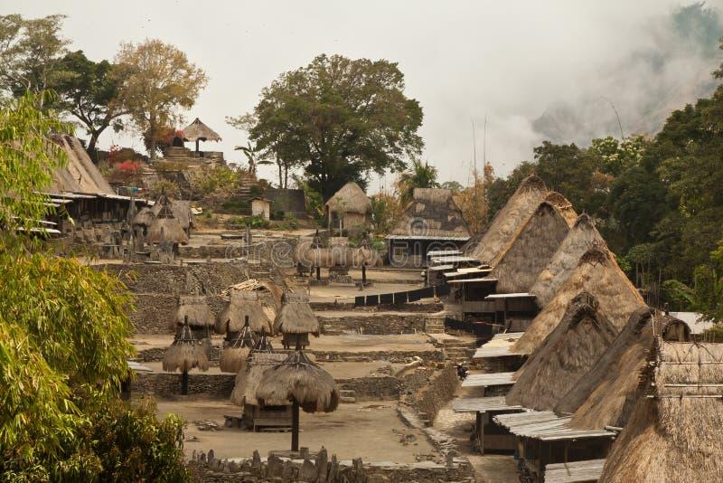 Traditioneel dorp Bena op Flores-Eiland Indonesië royalty-vrije stock fotografie
