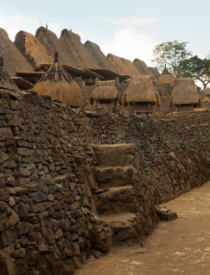 Traditioneel dorp Bena op Flores-Eiland Indonesië stock afbeelding