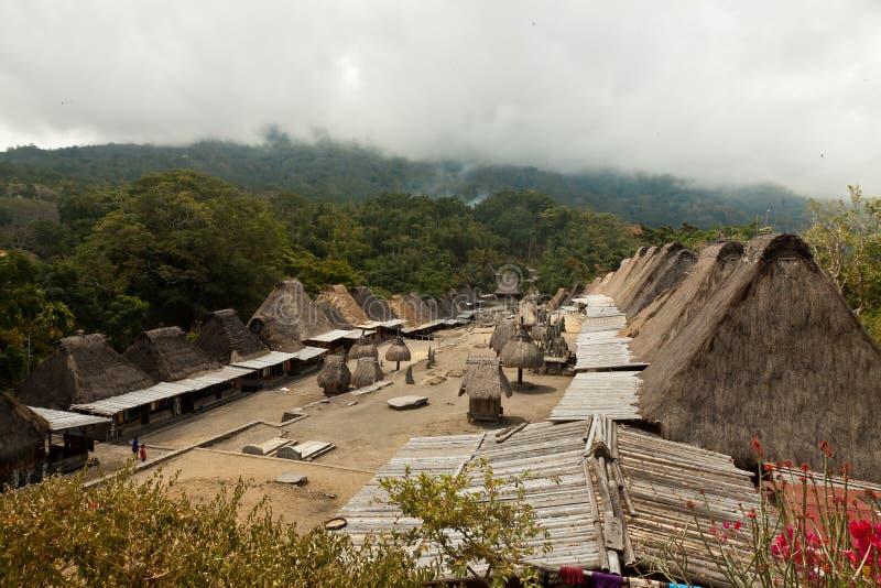 Traditioneel dorp Bena op Flores-Eiland Indonesië stock fotografie