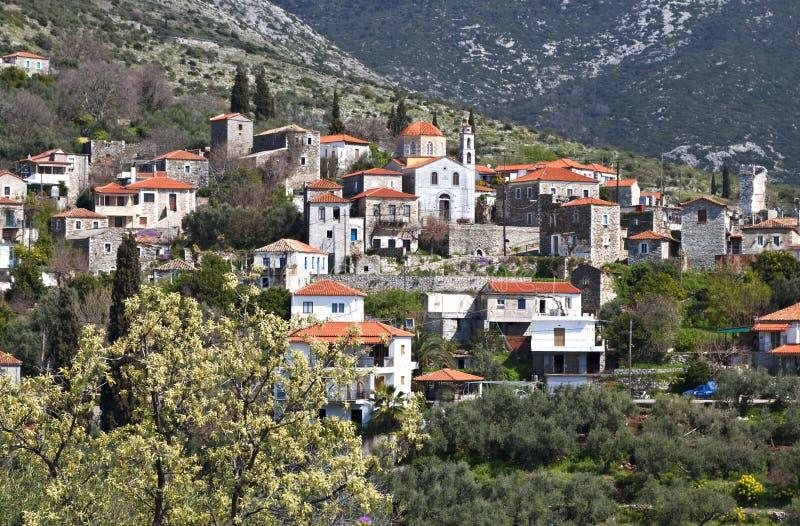 Traditioneel dorp in Mani, Griekenland royalty-vrije stock afbeeldingen