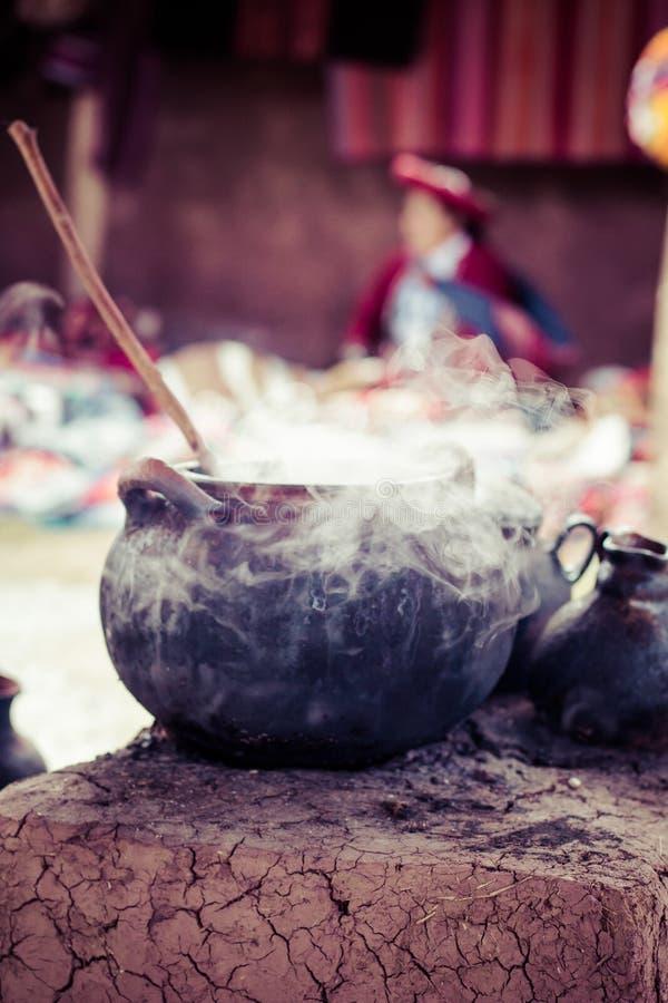 Traditioneel dorp in Peru, Zuid-Amerika. stock foto's