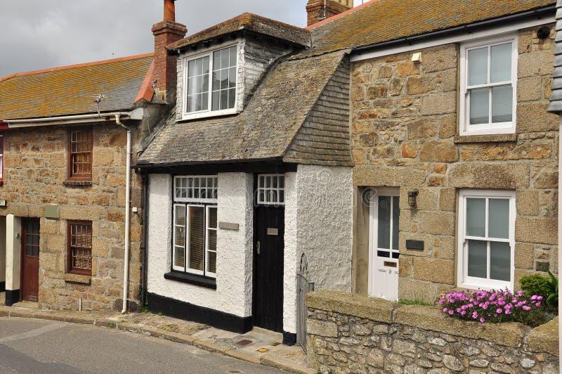 Traditioneel Engels plattelandshuisje St Ives Cornwall, Engeland, het UK stock foto's