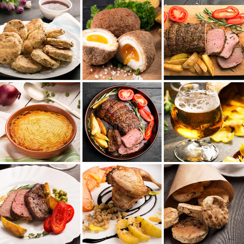 Traditioneel Engels Voedsel stock foto