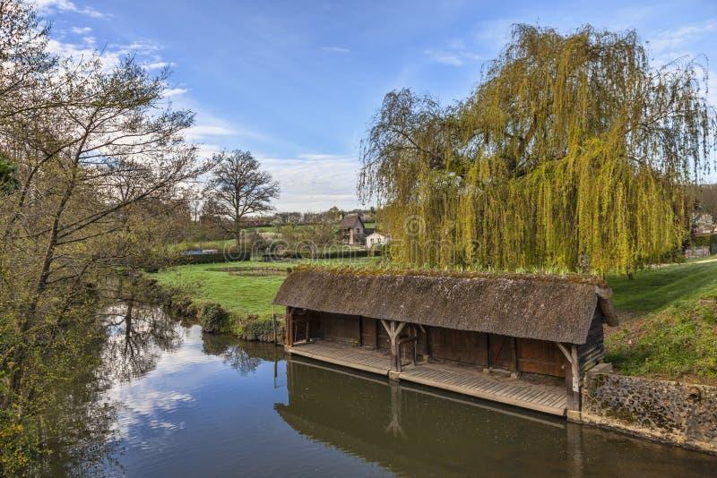 Traditioneel Frans was-Huis stock foto's