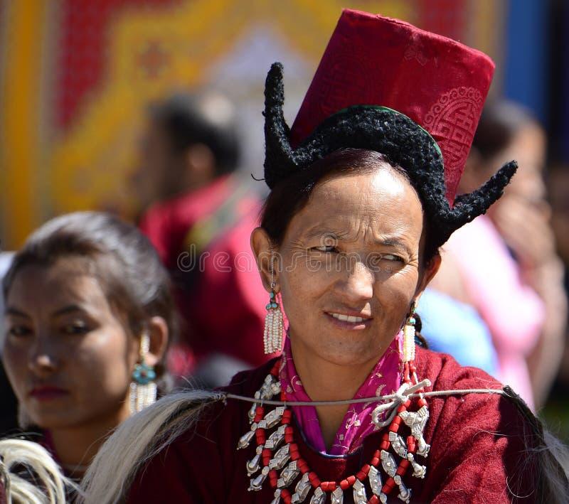 Traditioneel gekleed royalty-vrije stock foto's