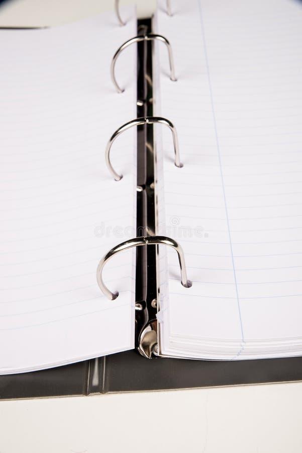 Traditioneel geringd notitieboekje stock foto's