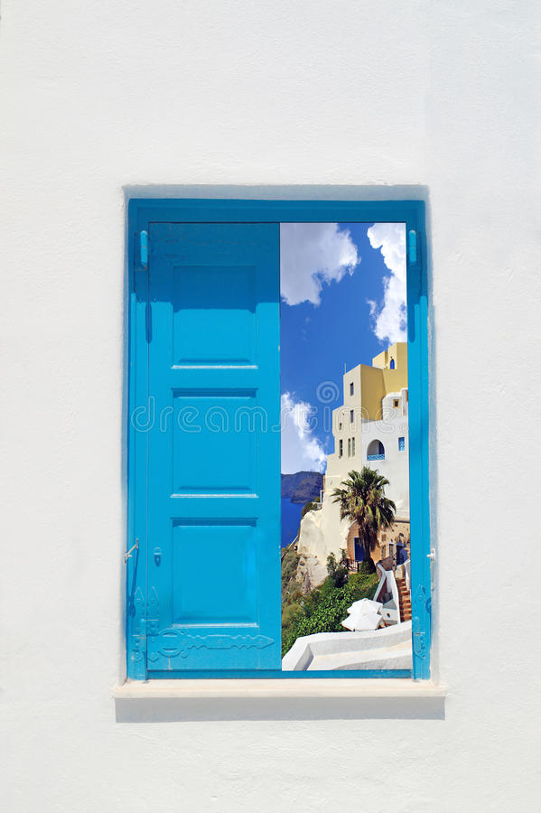 Traditioneel Grieks huis op Mykonos-eiland stock fotografie