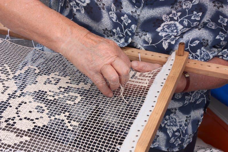 Traditioneel handwerk stock afbeelding