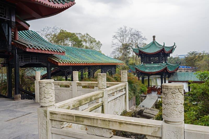 Traditioneel het bekijken platform, Chengdu, China royalty-vrije stock foto