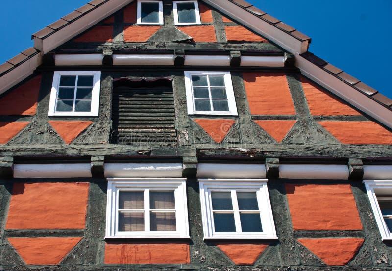 Traditioneel hout fram huis in Celle, Duitsland stock foto's