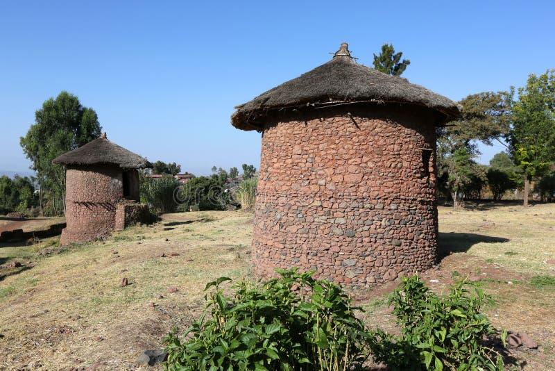 Traditioneel huis in Ethiopië royalty-vrije stock foto's