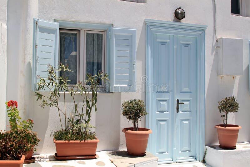 Traditioneel huis in Griekenland stock afbeelding