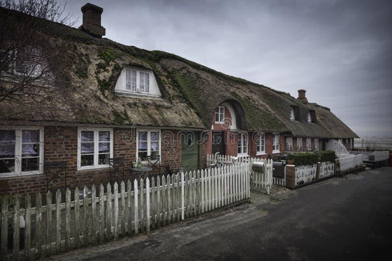 Traditioneel huis in Nordby op het Deense eiland Fano royalty-vrije stock foto
