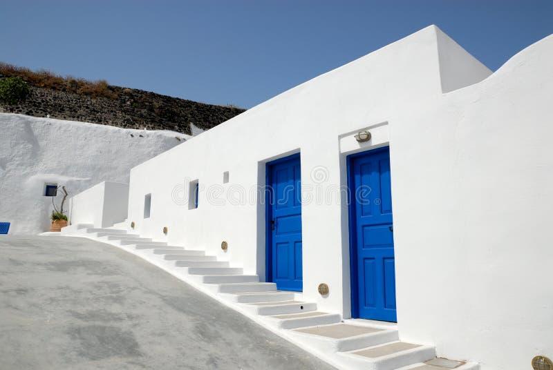 Traditioneel huis in Santorini, Griekenland royalty-vrije stock fotografie