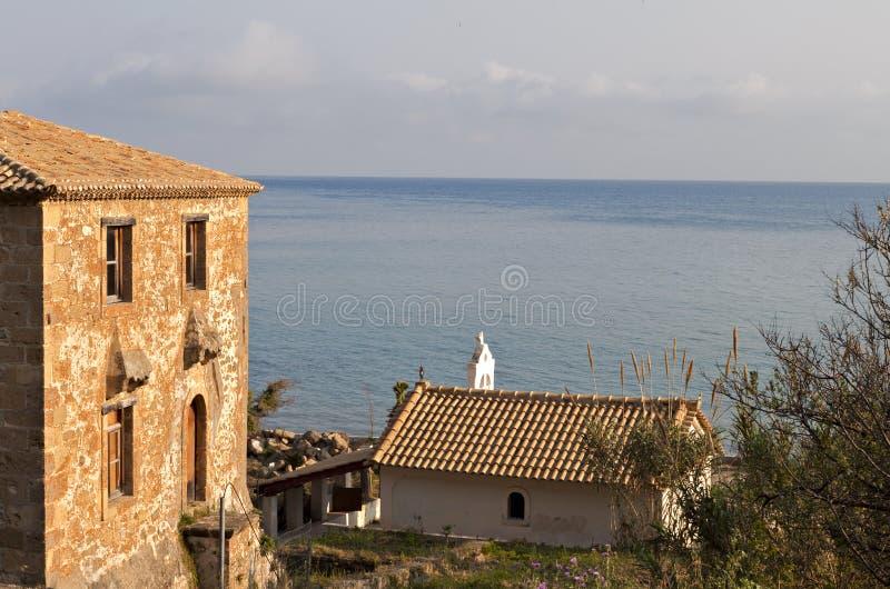 Traditioneel huis in Zakynthos, Griekenland royalty-vrije stock foto