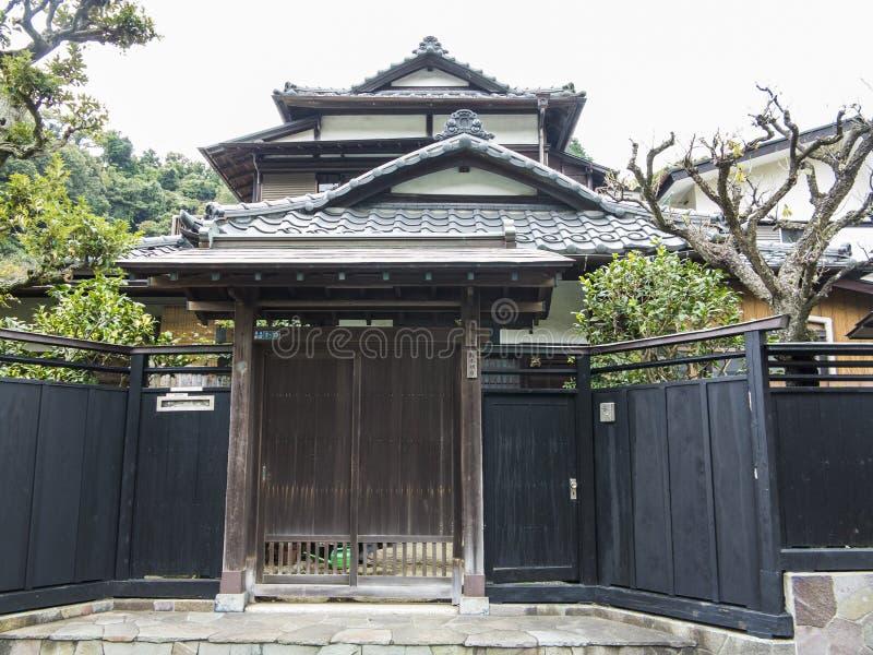 Traditioneel Japans huis stock afbeelding