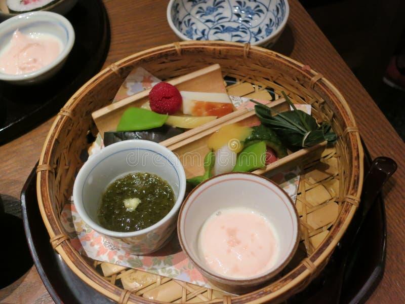 Traditioneel Japans Voorgerecht stock fotografie