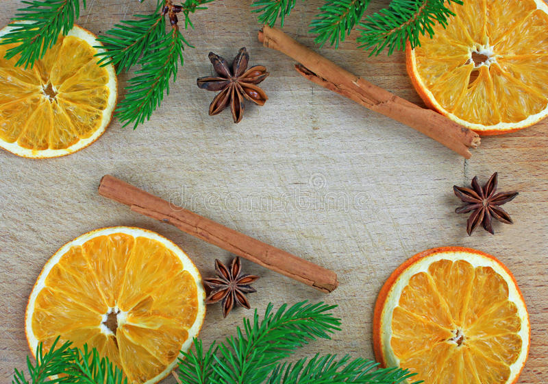 Traditioneel Kerstmiskader royalty-vrije stock afbeeldingen
