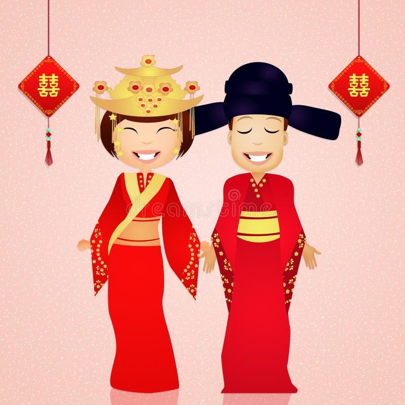 Download Traditioneel Kostuum Chinees Huwelijk Stock Illustratie - Illustratie bestaande uit illustratie, tempel: 54085518