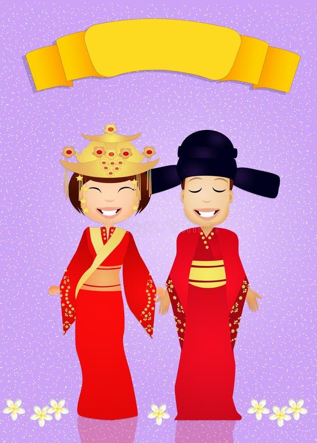 Download Traditioneel Kostuum Chinees Huwelijk Stock Illustratie - Illustratie bestaande uit hoofddeksel, vrouw: 54085707